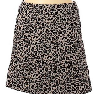 Loft petite cheetah print casual skirt w/pockets